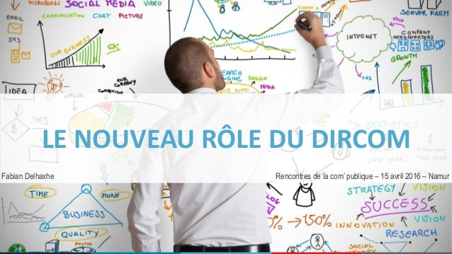 LE NOUVEAU RÔLE DU DIRCOM Rencontres de la com' publique – 15 avril 2016 – NamurFabian Delhaxhe