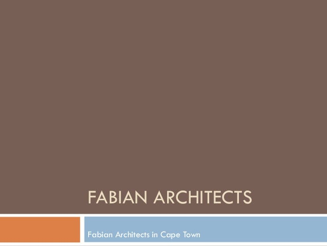 FABIAN ARCHITECTS Fabian Architects in Cape Town