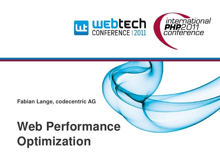 Fabian Lange, codecentric AGWeb PerformanceOptimization