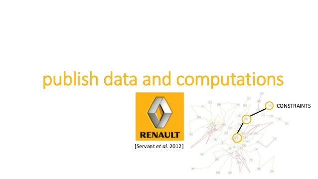 publish data and computations CONSTRAINTS [Servant et al. 2012]