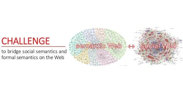 CHALLENGE to bridge social semantics and formal semantics on the Web