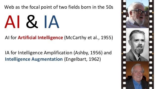 AI & IA Web as the focal point of two fields born in the 50s AI for Artificial Intelligence (McCarthy et al., 1955) IA for...