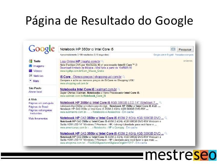 Página de Resultado do Google<br />