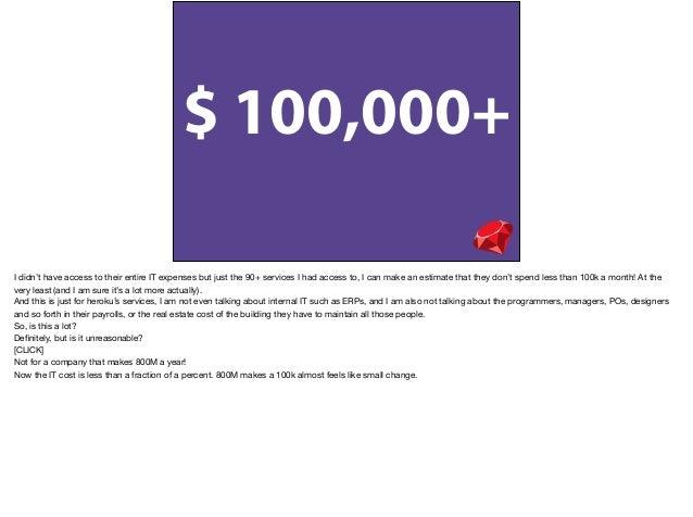 """• Minimum IT Cost: • USD 1000 - Cloud Services • USD 3000 - 1 Developer • USD 4000 - 1""""Responsible""""(Manager, Marketing, et..."""