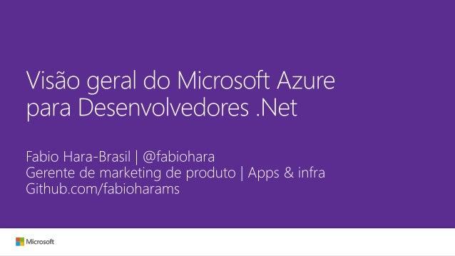 Visão geral do Microsoft Azure