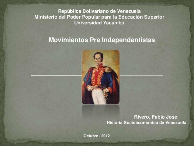 República Bolivariano de VenezuelaMinisterio del Poder Popular para la Educación Superior                 Universidad Yaca...