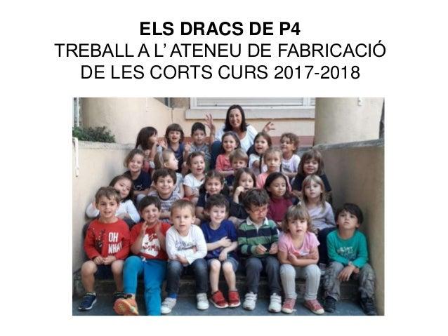 ELS DRACS DE P4 TREBALL A L' ATENEU DE FABRICACIÓ DE LES CORTS CURS 2017-2018