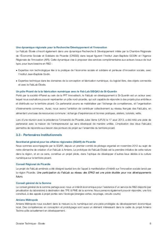 Une dynamique régionale pour la Recherche/Développement et l'innovation Le FabLab Étoele s'inscrit également dans une dyna...
