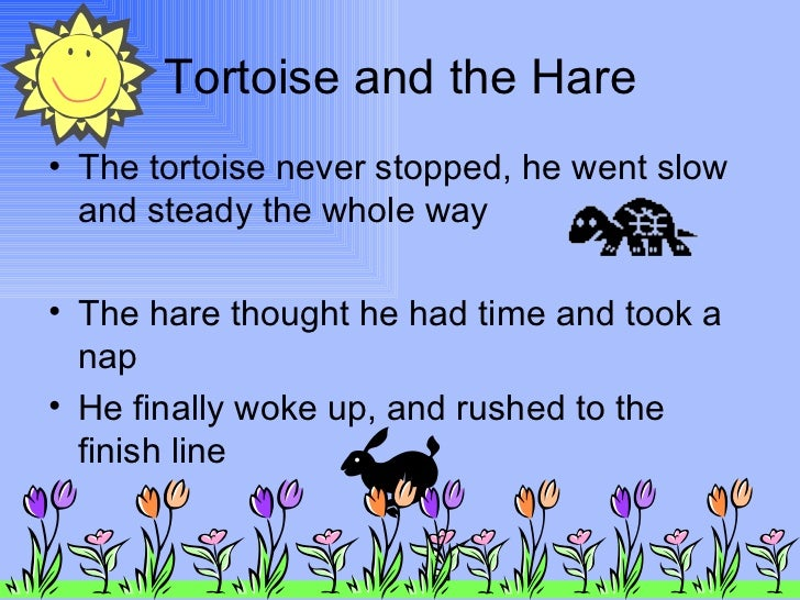 the hare and the tortoise short story pdf