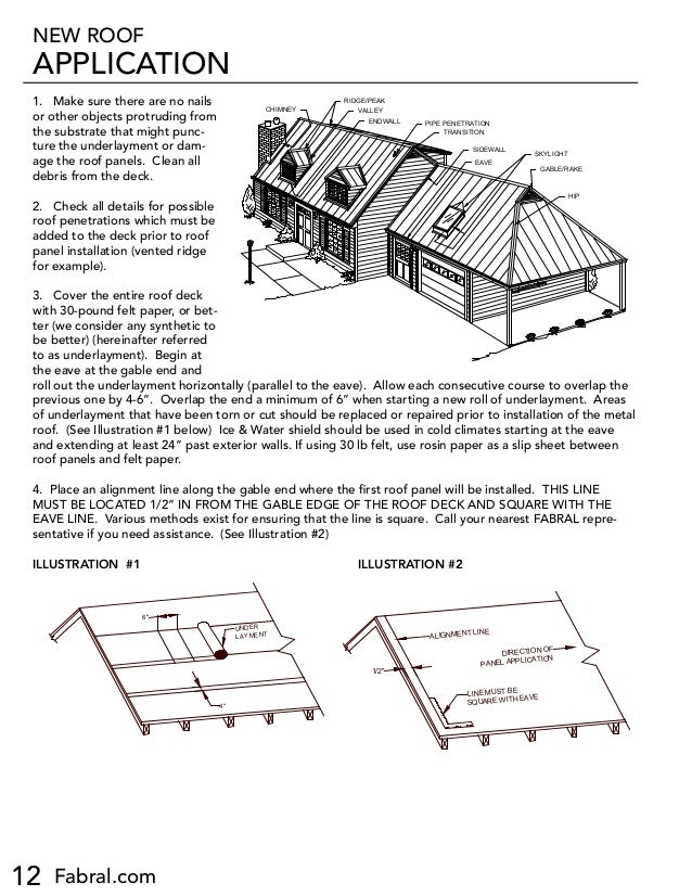 Fabral Ssr Metal Roofing Installation Manual