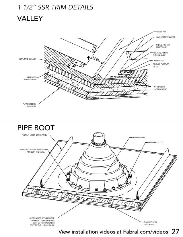 Roofing Valley Details & Download CAD File Figure Detail