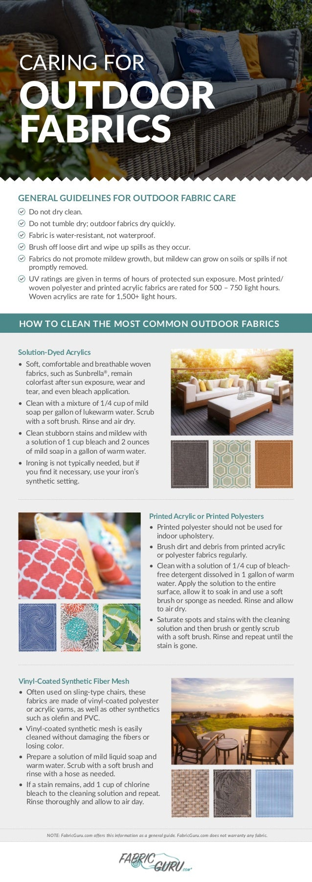Caring For Outdoor Fabrics 1