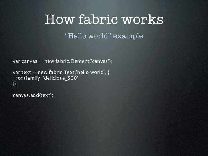 Fabric js — Building a Canvas Library