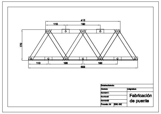 Fabricación de puente básico apernado