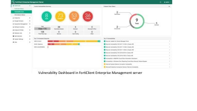 Vulnerability Dashboard in FortiClient Enterprise Management server