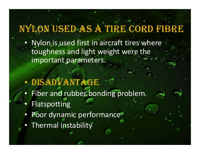 Tires Nylon Fibres 102