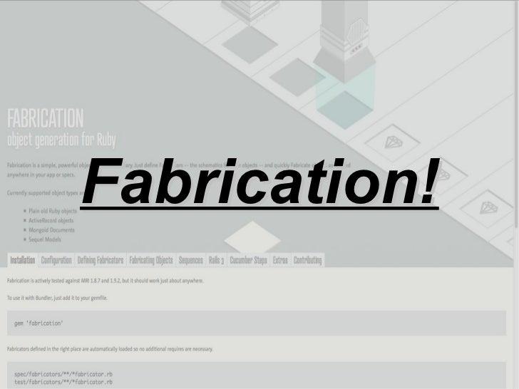 Fabrication!