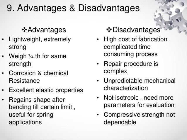 advantages and disadvantages of chemistry Advantage and disadvantage of chemistry are several disadvantages of these chemicals chemistry is a branch of science few advantages of chemistry in our.
