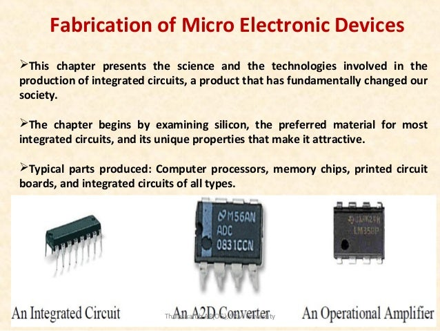 Production produce integrated circuit electronic devices