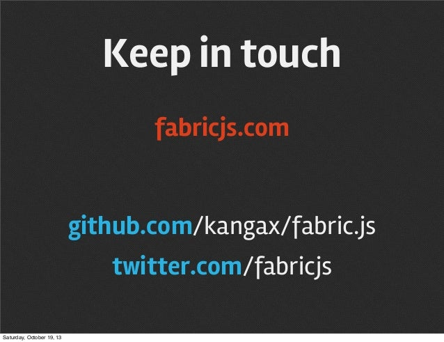 Interactive web with Fabric js @ meet js