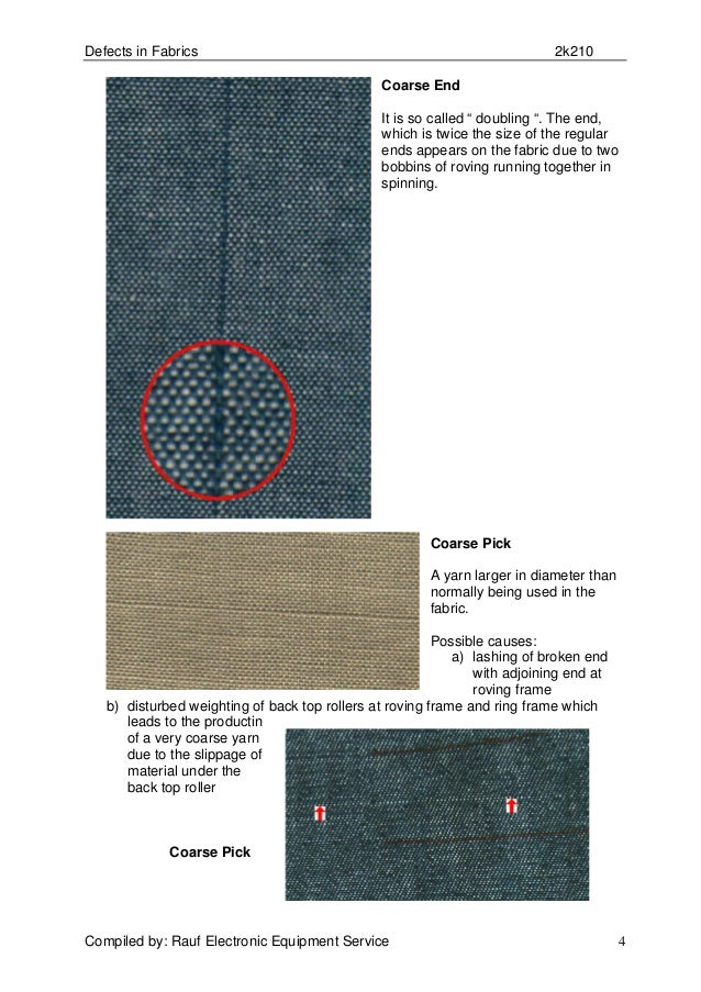 23 Fabric Defects to Look Out for During Fabric Inspection