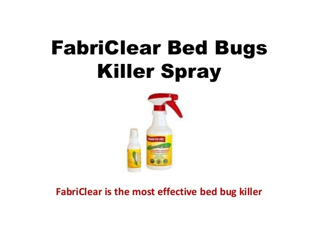 Fabriclear For Bed Bugs
