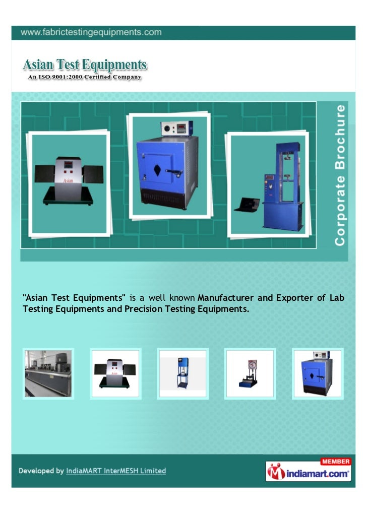 """""""Asian Test Equipments"""" is a well known Manufacturer and Exporter of LabTesting Equipments and Precision Testing Equipments."""