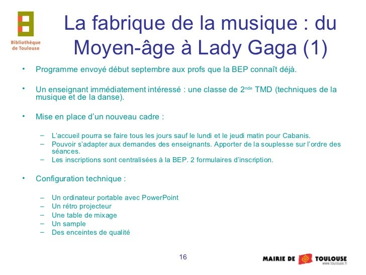 la fabrique de la musique du moyen age lady gaga. Black Bedroom Furniture Sets. Home Design Ideas
