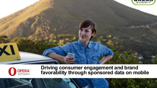 Driving consumer engagement and brand favorability through sponsored data on mobile