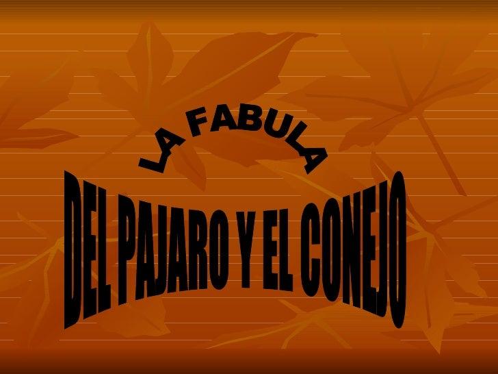 LA FABULA DEL PAJARO Y EL CONEJO