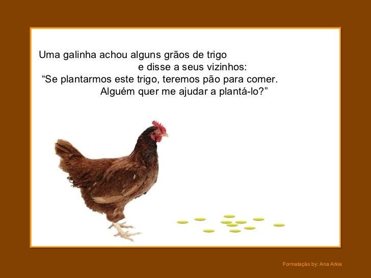 Resultado de imagem para a fábula da galinha