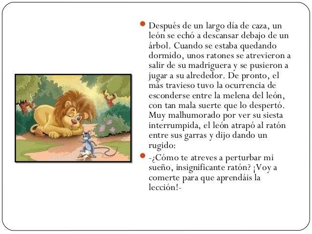 Moraleja del leon y el raton yahoo dating 7