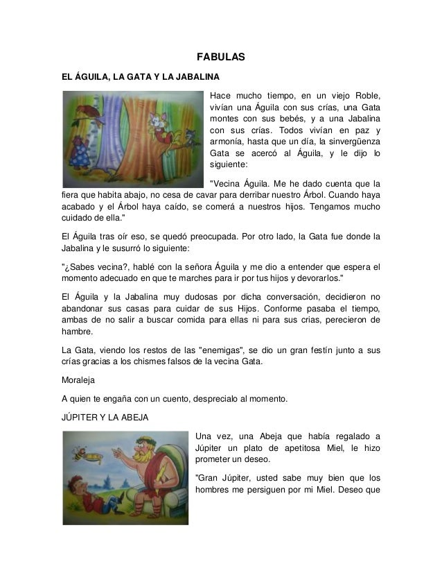 FABULAS EL ÁGUILA, LA GATA Y LA JABALINA Hace mucho tiempo, en un viejo Roble, vivían una Águila con sus crías, una Gata m...