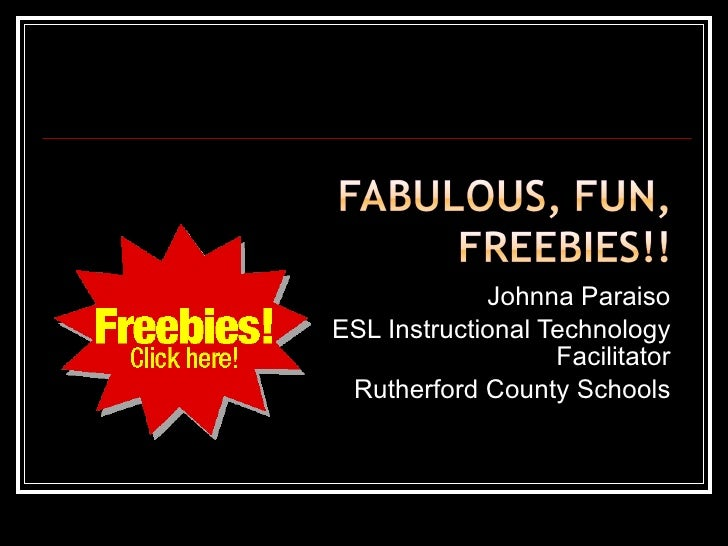 Johnna Paraiso ESL Instructional Technology Facilitator Rutherford County Schools