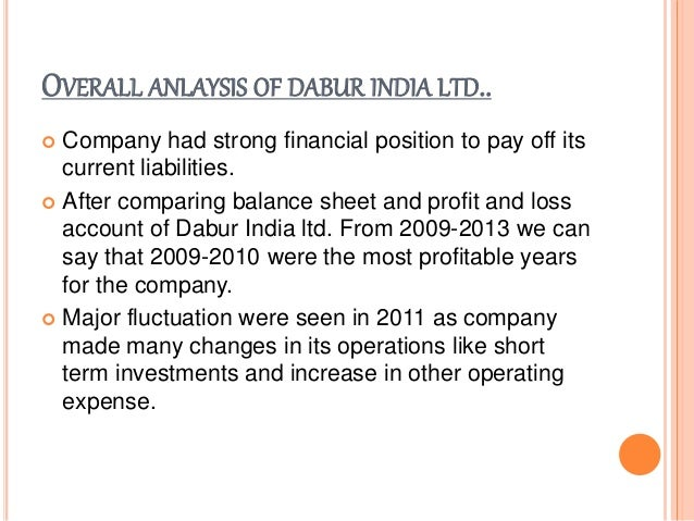 Dabur India Ltd. Company Financial Ratios Analysis