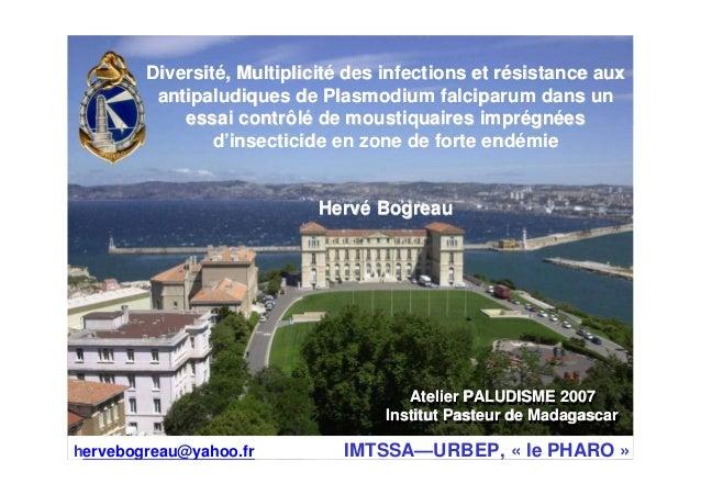 Atelier PALUDISME 2007Institut Pasteur de MadagascarAtelier PALUDISME 2007Atelier PALUDISME 2007Institut Pasteur de Madaga...