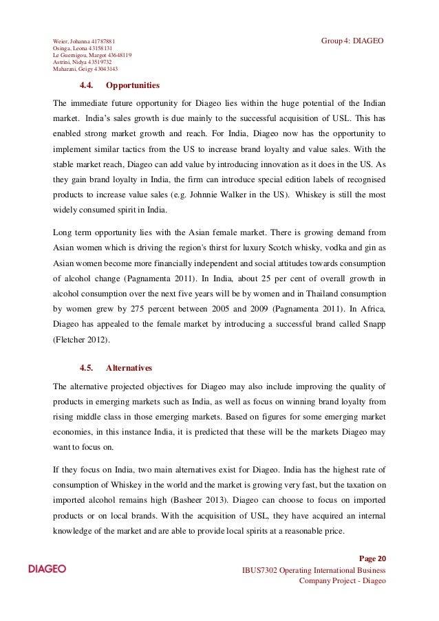 Diageo (DEO) SWOT Analysis