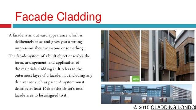 Types Of Cladding : Facade cladding
