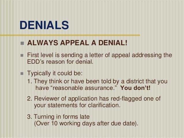 22 - Unemployment Denial Letter