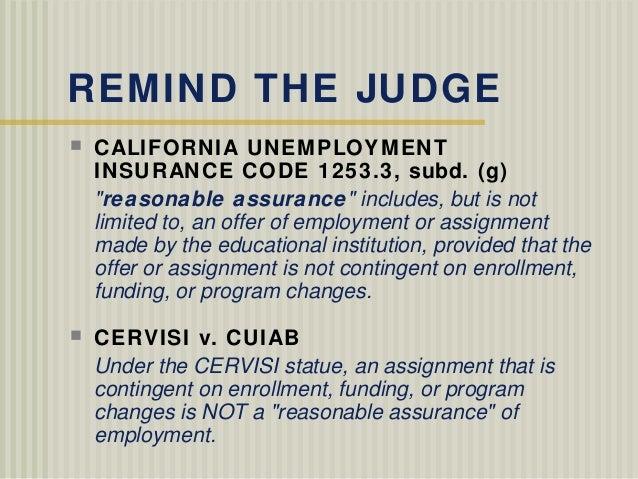 California Insurance: California Unemployment Insurance Code