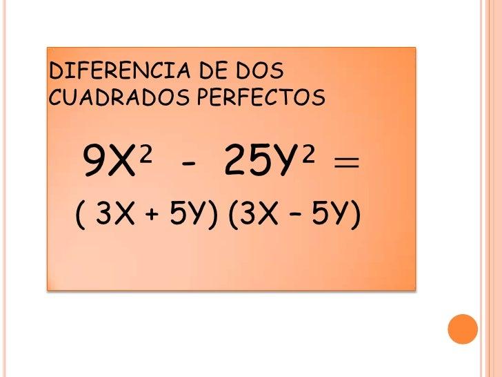 Factorizar la diferencia de dos cuadrados