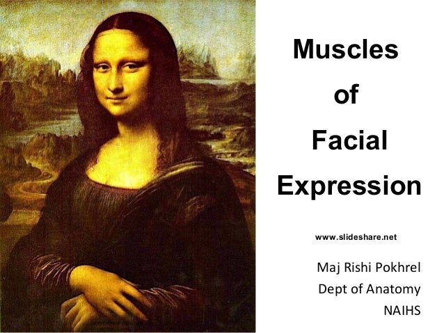 Muscles of Facial Expression Maj Rishi Pokhrel Dept of Anatomy NAIHS www.slideshare.net
