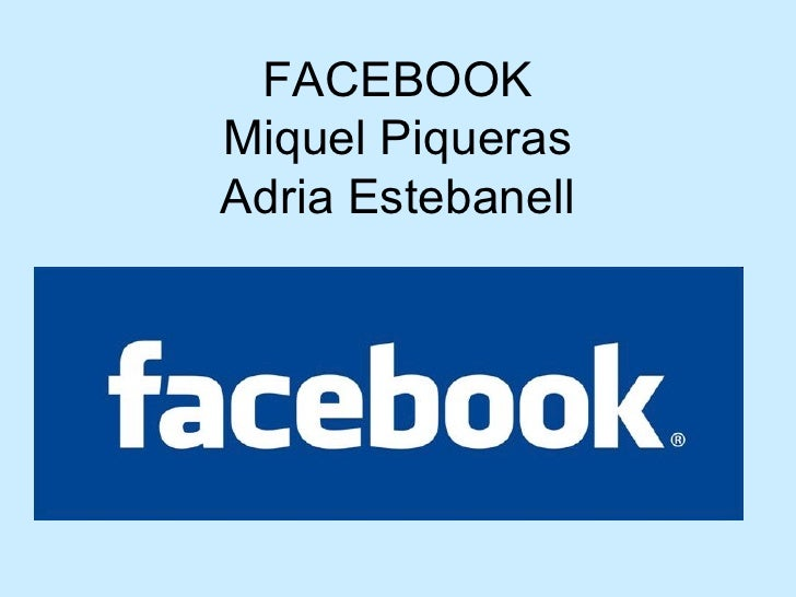 FACEBOOK Miquel Piqueras Adria Estebanell