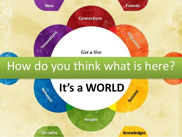 Get a live How do you think what is here? Friends Connections Sociality New People It's a WORLD Knowledges