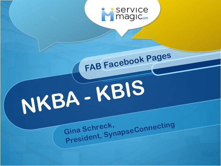 NKBA - KBIS FAB Facebook Pages Gina Schreck,  President, SynapseConnecting