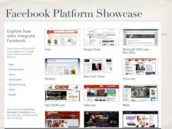 Facebook Platform Showcase