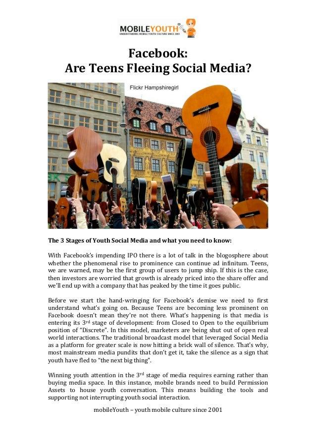!                                              !                 Facebook:))       Are)Teens)Fleeing)Social)Media?))      ...