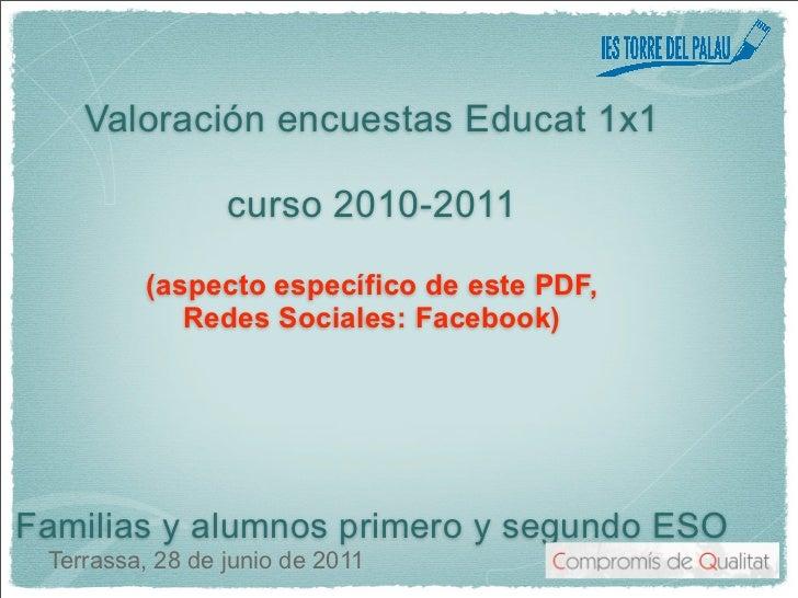 Valoración encuestas Educat 1x1                 curso 2010-2011          (aspecto específico de este PDF,             Rede...