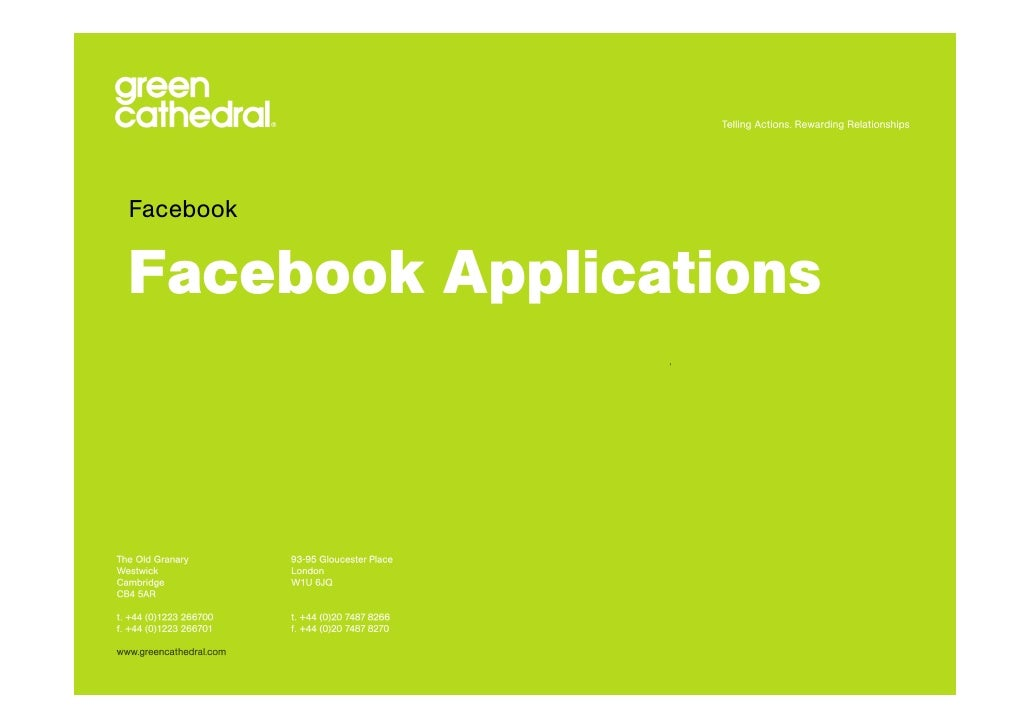 Facebook   Facebook Applications