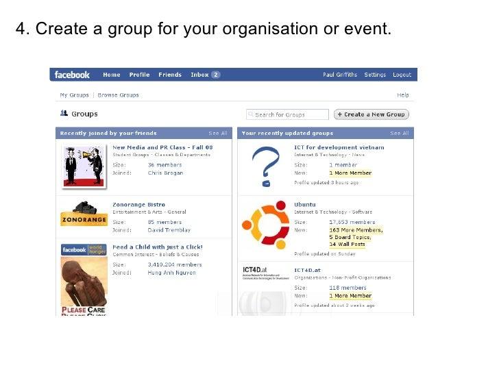 Facebook in Development Organisations
